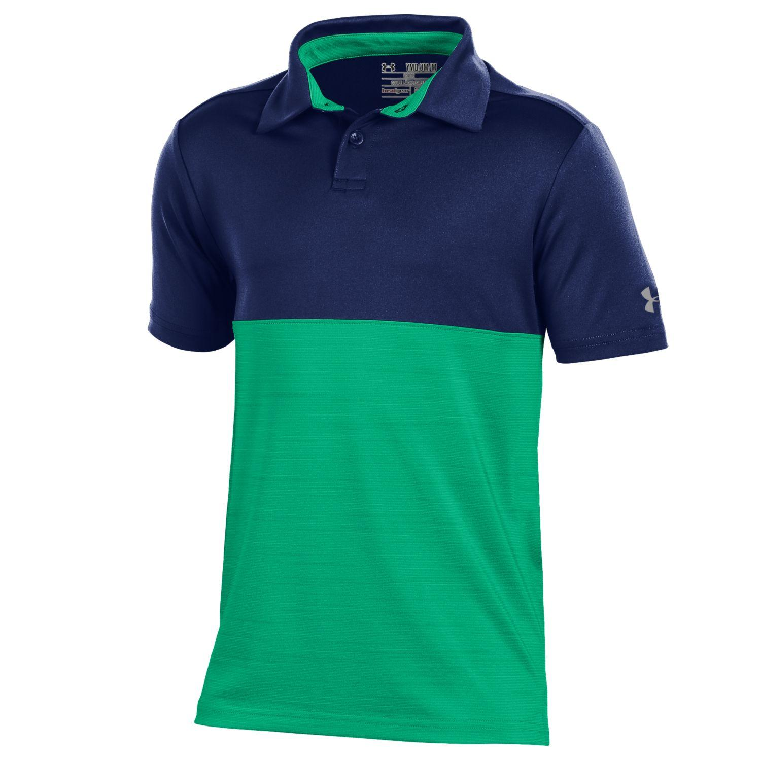 Under Armour Junior Boys Blocked Golf Polo