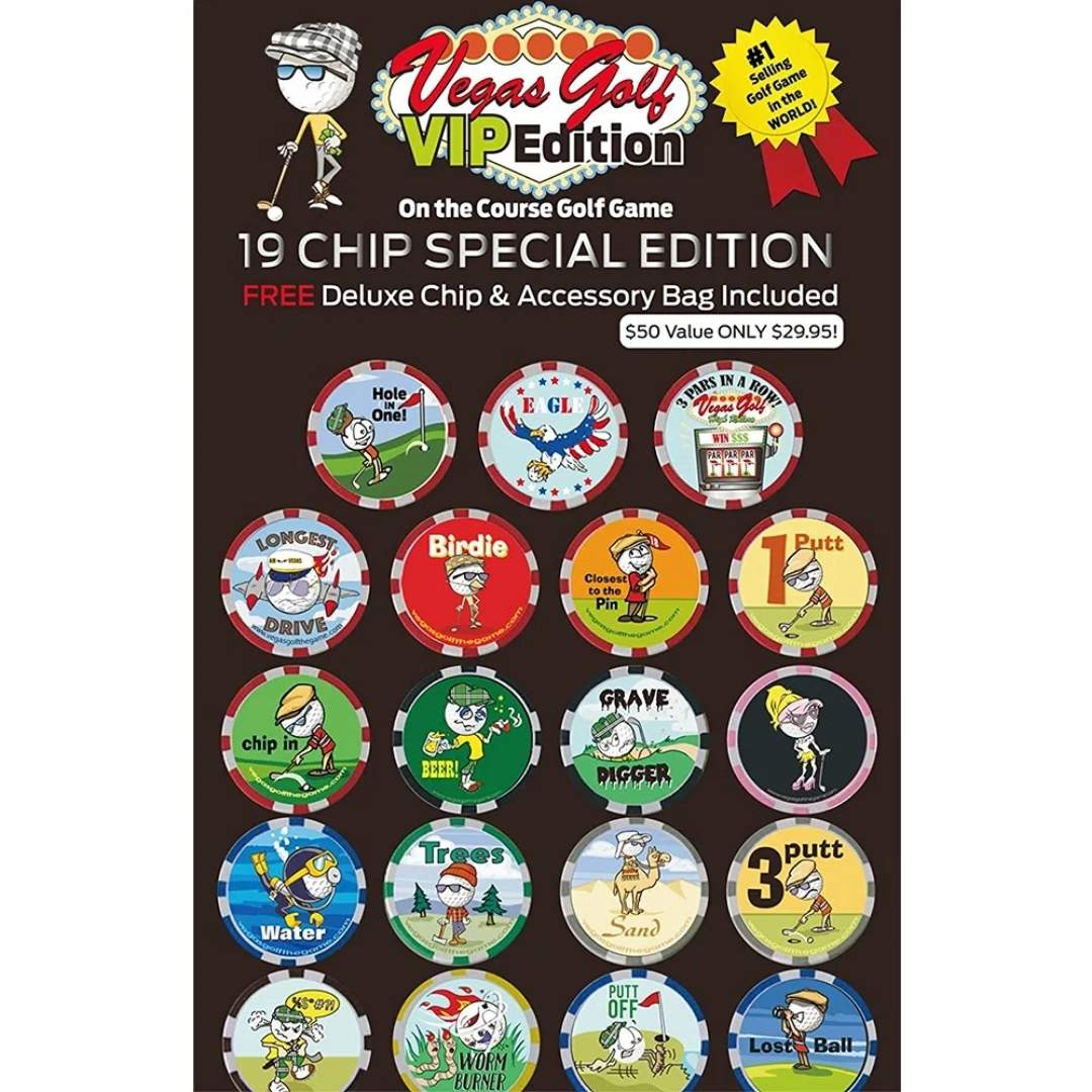 Vegas Golf On-The-Course Game - 19 Chip VIP Edition w/Deluxe Bag