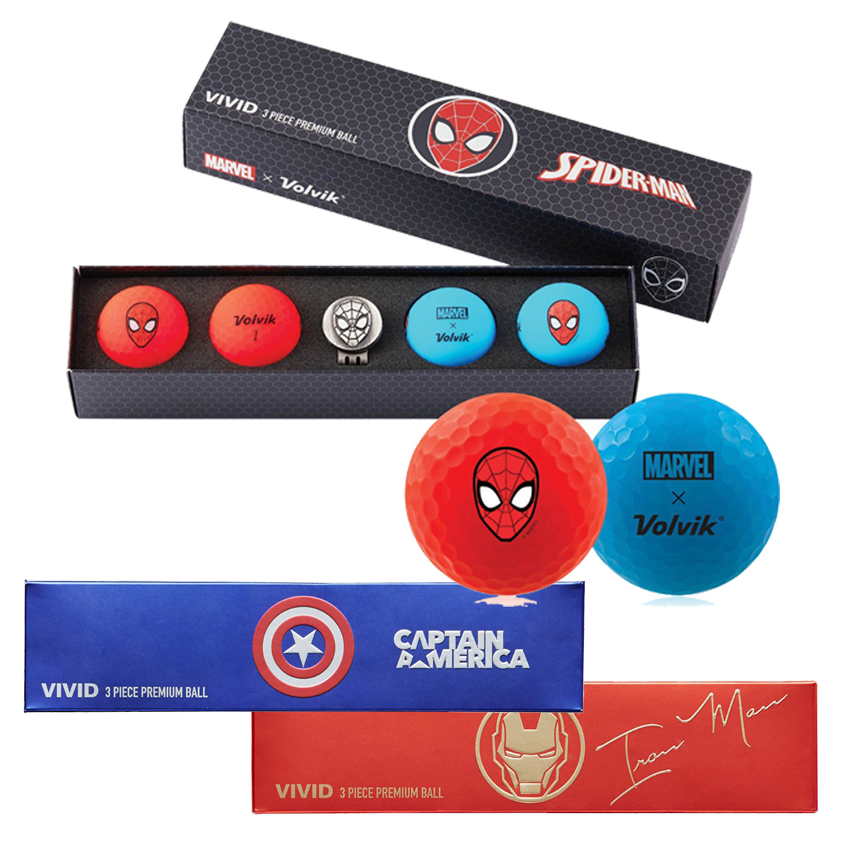 Volvik Vivid Marvel Golf Ball Gift Pack
